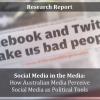 Moving Politics Online: How Australian Mainstream Media Portray Social Media as Political Tools